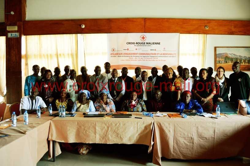 Les membres de la Croix-Rouge Malienne formés sur l'engagement communautaire  et la redevabilité