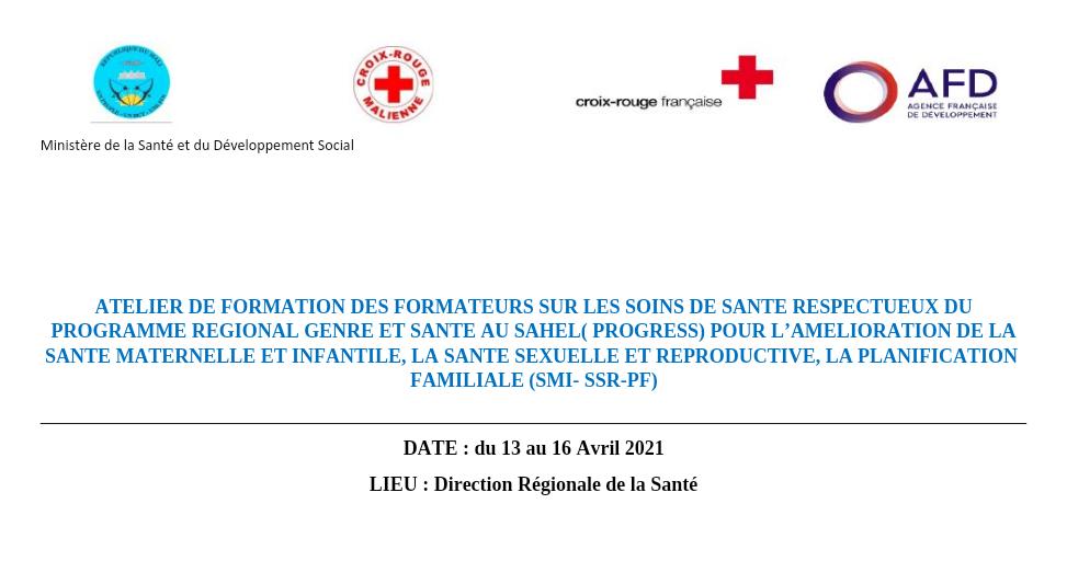 La Croix-Rouge-Malienne et la Croix-Rouge Française renforcent la capacité du personnel de santé en Soins de Santé Respectueux